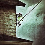 Wires On House In Storm Art Print
