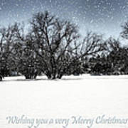 Wishing You A Very Merry Christmas Art Print