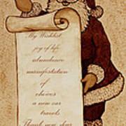 Wishlist For Santa Claus  Print by Georgeta  Blanaru