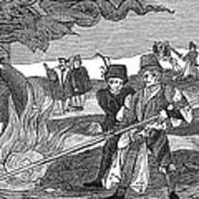 Witch Burning, 1555 Art Print by Granger