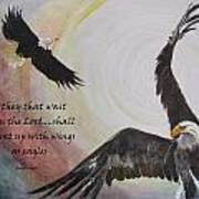 ...with Wings As Eagles Art Print