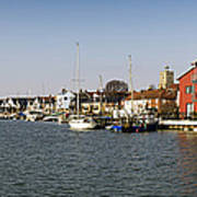 Wivenhoe Waterfront Panorama Art Print