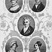 Wives Of Founding Fathers Art Print by Granger
