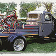 Wizzer Cycle At The Hot Rod Show Art Print