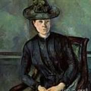 Woman In A Green Hat Art Print