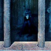 Woman In Jail Art Print by Jill Battaglia
