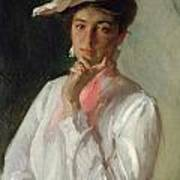 Woman In White Print by William Merritt Chase