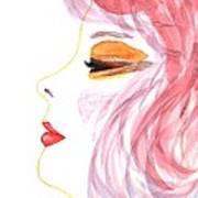 Woman Inner Trust Watercolor Painting Art Print
