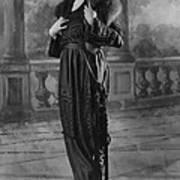 Woman Modeling Dress, A Frock Of Moon Art Print