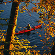 Woman Seakayaking On The Potomac River Print by Skip Brown
