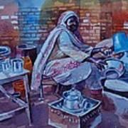 Woman Tea Art Print