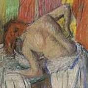 Woman Washing Her Back Art Print by Edgar Degas