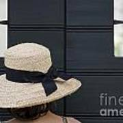 Woman With A Straw Hat Art Print