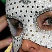 Woman With Mask Art Print