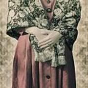 Woman With Shawl Art Print