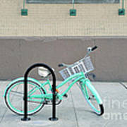 Woman's Bicycle  Art Print by Ed Rooney
