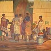 Women At Bolehole Art Print by Nisty Wizy