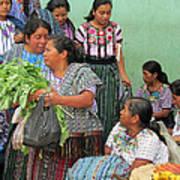 Women At The Chichicastenango Market Art Print