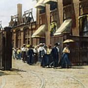 Women Leaving Work, 1895 Art Print