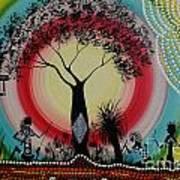 Women Under The Wisdom Tree Art Print