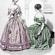 Womens Fashion, 1843 Art Print