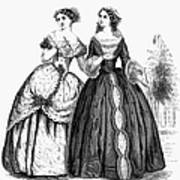 Womens Fashion, 1851 Art Print