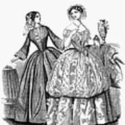 Womens Fashion, 1853 Art Print