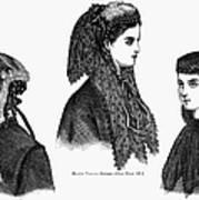 Womens Hats, 1868 Art Print