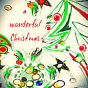 Wonderful Christmas Art Print