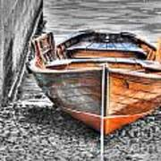 Wood Boat Art Print
