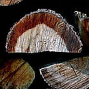 Wood. Piled Up Logs. Art Print
