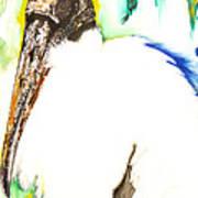 Wood Stork Art Print by Anthony Burks Sr