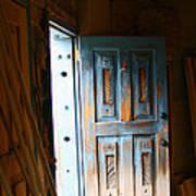 Wood Workers Door In Truchas New Mexico Art Print