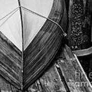Wooden Boat On The Dock Art Print