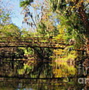 Wooden Bridge Over The Hillsborough River Art Print