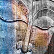 Wooden Buddha Art Print