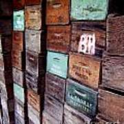 Wooden Produce Boxes Photograph Art Print