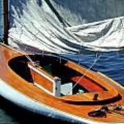 Wooden Sailboat 1 Art Print