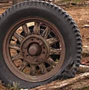 Wooden Spoked Tire Art Print