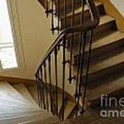 Wooden Stairs In Traditional Parisian Building Art Print