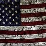 Wooden Textured Usa Flag2 Art Print
