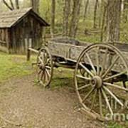 Wooden Wagon Art Print