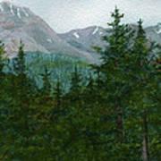 Woodland Overlook Art Print by Vikki Wicks