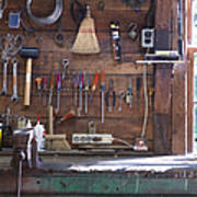 Work Bench And Tools Art Print
