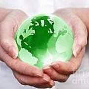 World In Your Hands Art Print