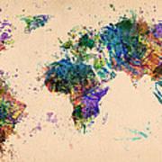 World Map 2 Art Print