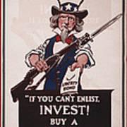 World War I, Poster Showing Uncle Sam Art Print