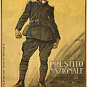 World War I, Poster Shows A Wounded Print by Everett