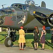 World War II B-25 Bomber Briefing Time Art Print