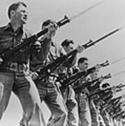 World War II, Bayonet Practice Art Print